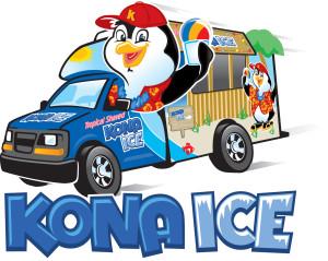 Post race treats provided by Kona Ice